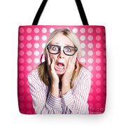 Scared Goofy Business Person Expressing Fear Tote Bag