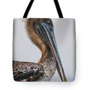 Scared Pelican Tote Bag