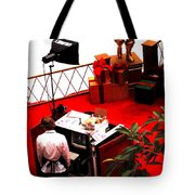 Scarey Old Guy In A Red Suit Tote Bag