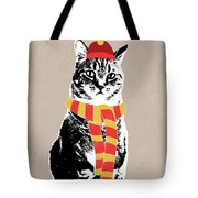 Scarf Weather Cat- Art By Linda Woods Tote Bag