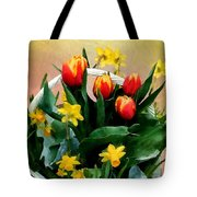 Scarlet And Gold Tote Bag