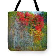 Scarlet Autumn Burst Tote Bag
