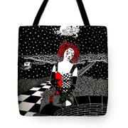 Scarlet Checkers Tote Bag