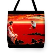 Scarlet Evening In December Tote Bag