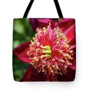 Scarlet Peony Tote Bag