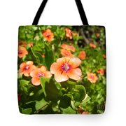 Scarlet Pimpernel Flower Photograph Tote Bag