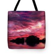 Scarlet Skies Tote Bag