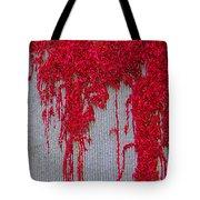 Scarlet Squiggle Tote Bag