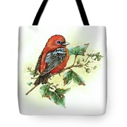 Scarlet Tanager - Summer Season Tote Bag