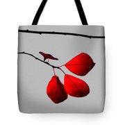 Scarlet Triad Tote Bag
