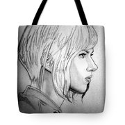 Scarlett Johansson As Major From Ghost In The Shell Tote Bag