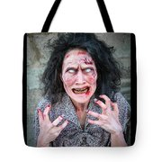 Scary Angry Zombie Woman Tote Bag