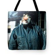 Scary Clown With Coat Tote Bag