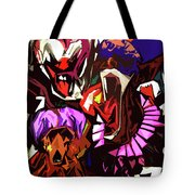 Scary Clowns Abstract Tote Bag