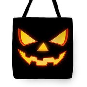 Scary Halloween Horror Pumpkin Face Tote Bag