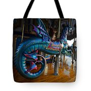 Scary Merry Go Round Boston Common Carousel Tote Bag