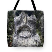 Scary Stone Head Tote Bag