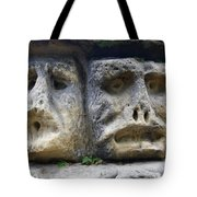 Scary Stone Heads Tote Bag