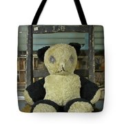 Scary Teddy Tote Bag