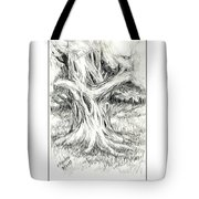 Scary Tree Tote Bag