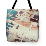 Scattered Collage Of Old Film Photography Tote Bag