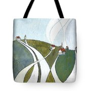 Scattered Houses Tote Bag