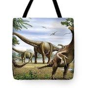 Scelidosaurus, Nothronychus Tote Bag
