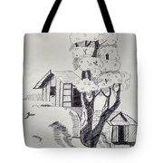 Scene Behind Rural Tote Bag