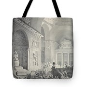 Scene In A Classical Temple  Funeral Procession Of A Warrior Tote Bag