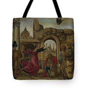 Scenes From The Life Of Saint Vincent Ferrer Tote Bag