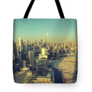 Scenic Aerial View Of Dubai Tote Bag