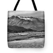 Scenic Alaska Bw Tote Bag