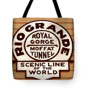 Scenic Line Of The World Tote Bag