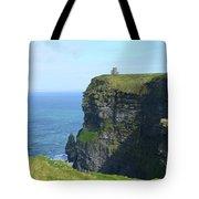 Scenic Lush Green Grass And Sea Cliffs Of Ireland Tote Bag