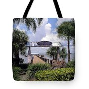 Scenic Melbourne Beach Pier  Florida Tote Bag