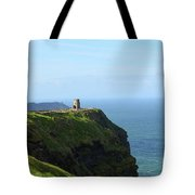 Scenic O'brien's Tower A Top The Cliff's Of Moher In Ireland Tote Bag