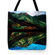 Scenic Stained Glass  Tote Bag
