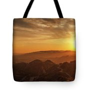 Scenic Sunset Over Hollywood Hills Tote Bag