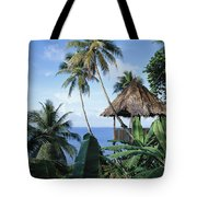 Scenic Thatched Hut Tote Bag