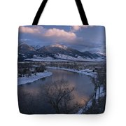 Scenic Twilight View Of The Yellowstone Tote Bag