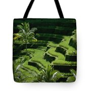 Scenic Valleys With Rice Fields In Bali Tote Bag