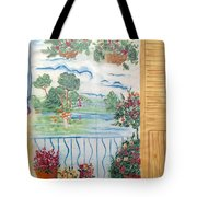Scenic View From The Terrace Tote Bag