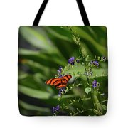 Scenic View Of An Orange Oak Tiger Butterfly Tote Bag