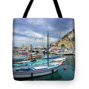Scenic View Of Historical Marina In Nice, France Tote Bag