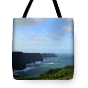 Scenic Views Of Ireland's Cliff's Of Moher In County Clare Tote Bag