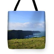 Scenic Views Of The Cliff's Of Moher In Ireland Tote Bag