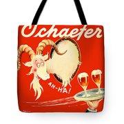 Schaefer Beer Vintage Ad Tote Bag