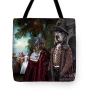 Schapendoes Art Canvas Print - Dance Before A Fountain Tote Bag