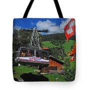 Schilthorn Cable Car Murren Tote Bag