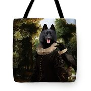 Schipperke Art Canvas Print - Forest Landscape With A Hunter And Noble Lady Tote Bag